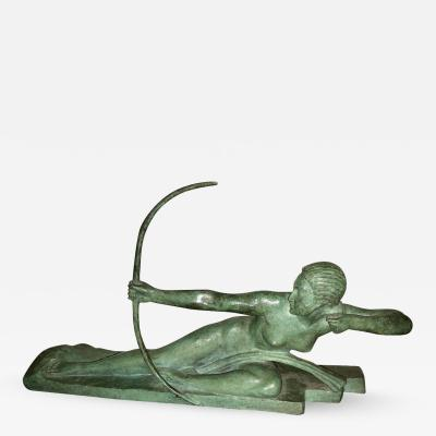 Marcel Andre Bouraine Art Deco Bronze Sculpture by Bouraine of Amazon Queen Penthesilea