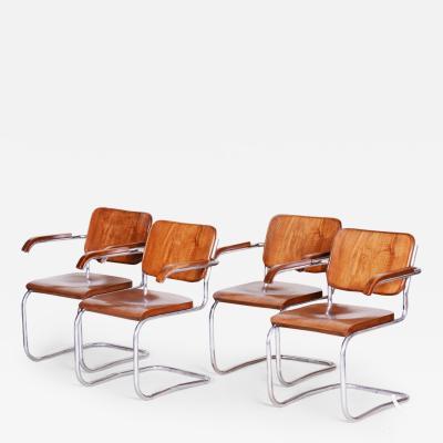 Marcel Breuer 20th century Bauhaus Czech Chairs 4pcs