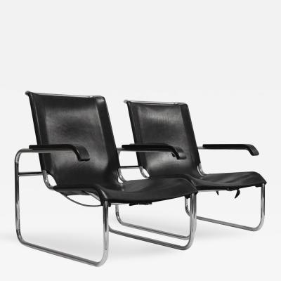 Marcel Breuer Pair of Thonet B 35 Chairs Designed by Marcel Breuer