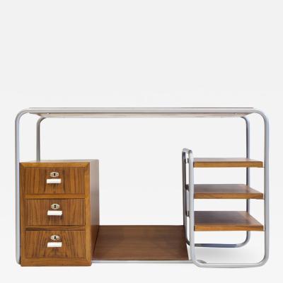 Marcel Breuer Tubular Steel and Wood Writing Desk