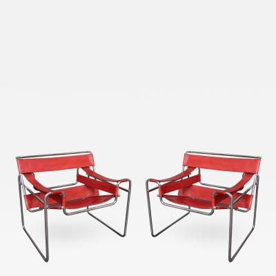Marcel Breuer Wassily Pair of Armchairs by Marcel Breuer Italy 1970