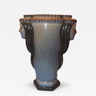 Marcel F lix Guillard Art Deco Vase Two Faced by Guillard