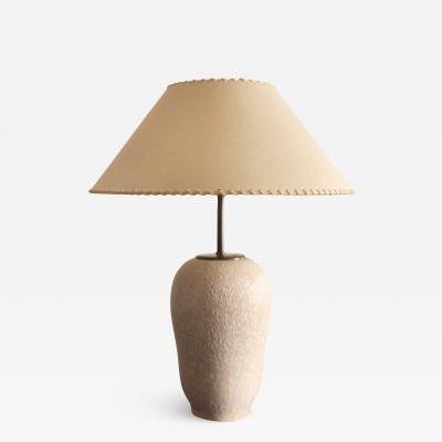 Marcel Noverraz Ceramic Lamp by Marcel Noverraz Switzerland 1940s