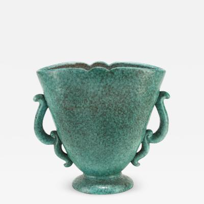Marcel Noverraz Marcel Noverraz 1930s Large Turquoise Vase