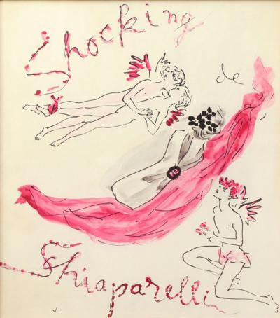 Marcel Vertes A Schiaparelli Fragrance Shocking Illustration by Marcel Vertes