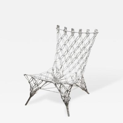 Marcel Wanders Marcel Wanders Knotted Rope Chair in Chrome Epoxy 1996