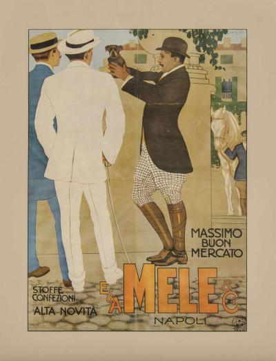 Marcello Dudovich Belle Epoque Italian Fashion Art Lithographic Poster by Marcello Dudovich