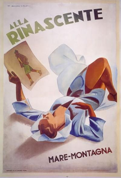 Marcello Dudovich Italian Fashion Poster by Marcello Dudovich circa 1940