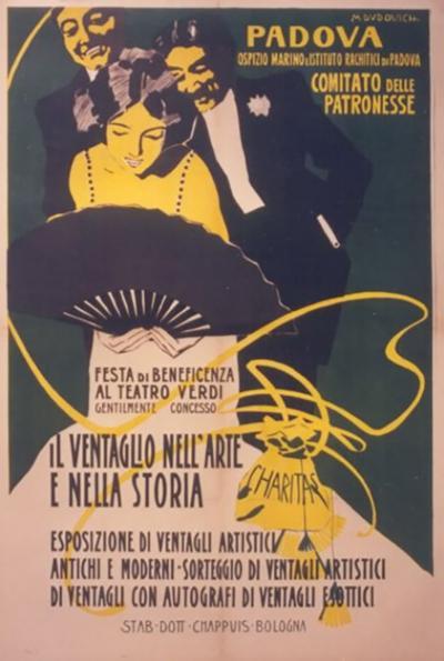 Marcello Dudovich Italian Stile Liberty Opera Benefit Poster by Marcello Dudovich circa 1900