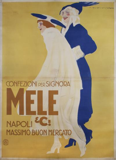 Marcello Dudovich Large Italian Fashion Poster by Marcello Dudovich circa 1911 1922