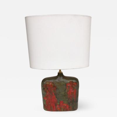 Marcello Fantoni Bottle Ceramic Lamp by Marcello Fantoni Italy 1970s