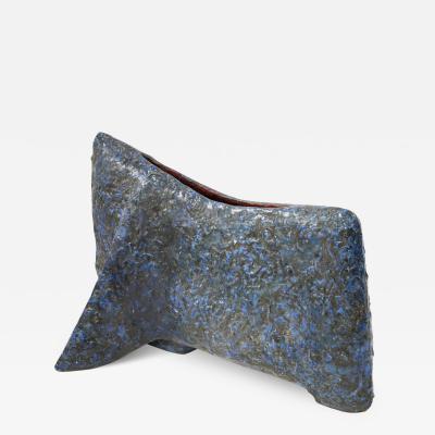 Marcello Fantoni Ceramic sculpture Toro Blu by Marcello Fantoni 1959
