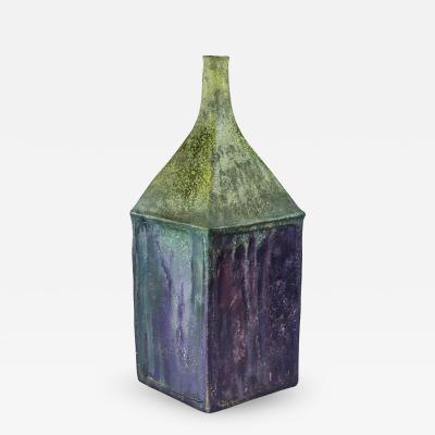 Marcello Fantoni Fantoni Raymor Ceramic Vase Purple Green Signed Italy 1960s