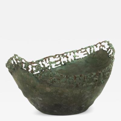 Marcello Fantoni Italian Brutalist Style Copper Bowl by Marcello Fantoni
