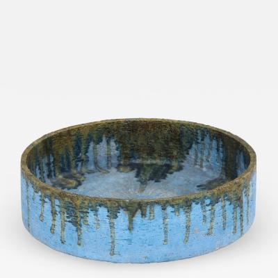 Marcello Fantoni Italian Drip Glazed Ceramic Vessel by Marcello Fantoni c 1960s