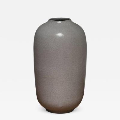 Marcello Fantoni Large Enameled Vase by Marcello Fantoni