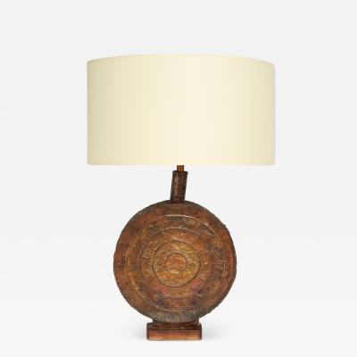 Marcello Fantoni Marcello Fantoni Hand Welded Copper Table Lamp 1960s