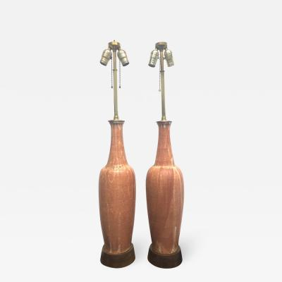 Marcello Fantoni Pair of Ceramic Italian Lamps by Marcello Fantoni for Raymor