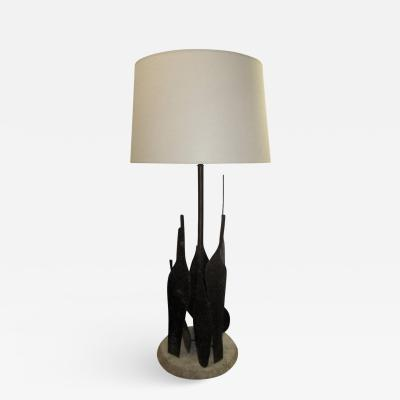Marcello Fantoni Sculptural Table Lamp by Fantoni