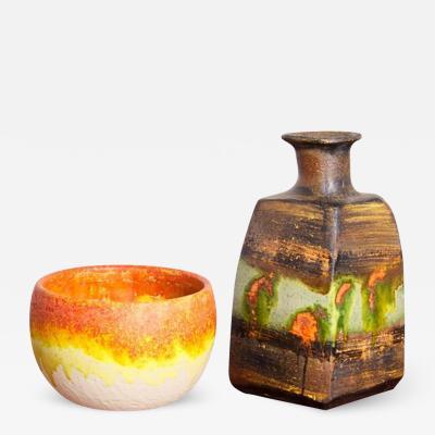 Marcello Fantoni Set of Two Marcello Fantoni Ceramic Vases Italy