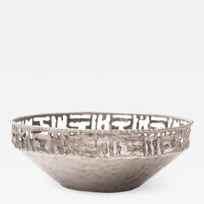 Marcello Fantoni Torch Cut Metal Bowl by Marcello Fantoni