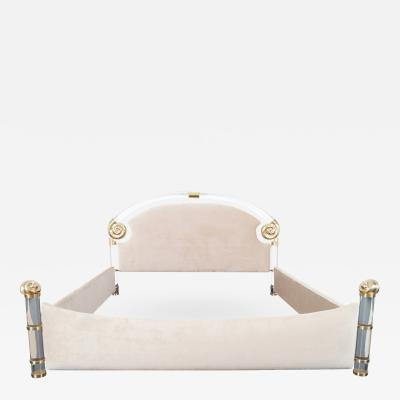 Marcello Mioni Exceptional Lucite Brass King Sized Bed