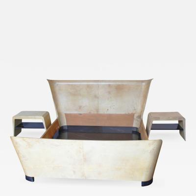 Marcello Piacentini Bed Frame in Vellum and Ash Wood
