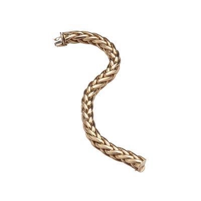 Marchisio 18kt Italian Gold woven link Bracelet