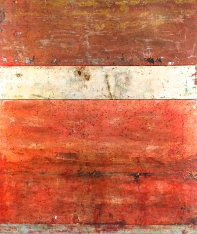 Marcia Myers Scavi XLI Triptych Abstract