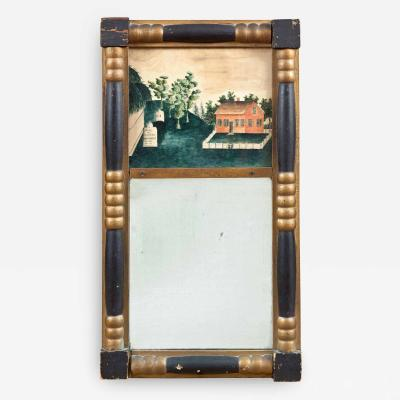 Marcia P Barton Mirror with Watercolor Memorial
