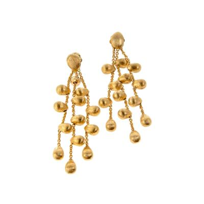 Marco Bicego Paradise Yellow Gold Textured Dangle Earrings