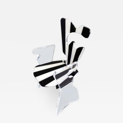 Marco Pettinari Acrylic Armchair Fluid Dichotomy