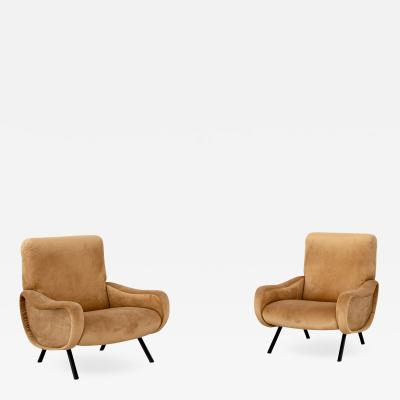 Marco Zanuso A pair of Lady armchair