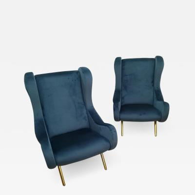 Marco Zanuso Gorgeous Pair of Armchairs in the Style of Marco Zanuso circa 1960