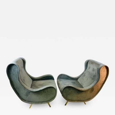 Marco Zanuso HIGH STYLE LOUNGE CHAIRS IN THE MANNER OF MARCO ZANUSO