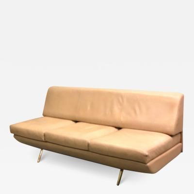 Marco Zanuso Italian Midcentury Sleep o Matic Leather Sofa Couch Marco Zanuso Arflex