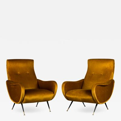 Marco Zanuso Marco Zanuso Pair of Lounge Chairs