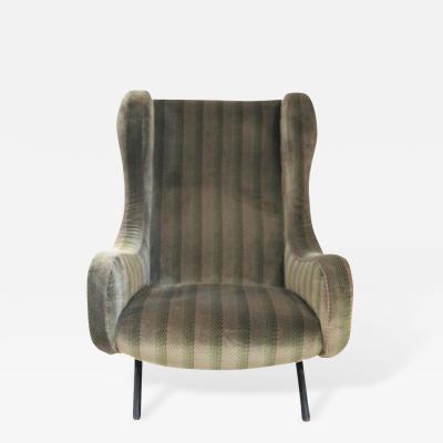 Marco Zanuso Marco Zanuso Senior Armchair Original Textile circa 1970 Italy