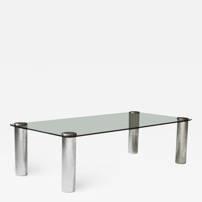 Marco Zanuso Marcuso Table in Smoked Glass Chrome by Marco Zanuso for Zanotta circa 1965