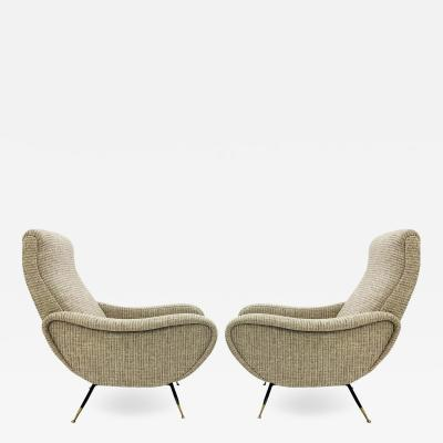Marco Zanuso Pair Of Italian Armchairs In The Style Of Marco Zanuso 1950