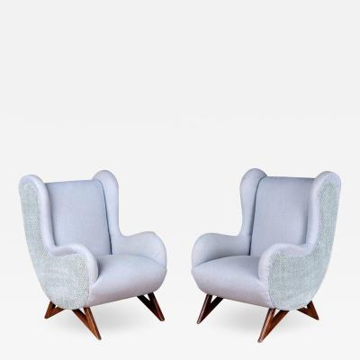 Marco Zanuso Pair of 1960s Italian Lounge Chairs