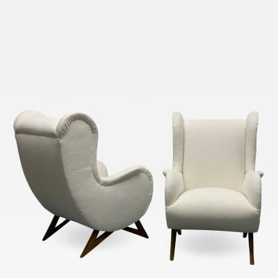 Marco Zanuso Pair of 1960s Italian Lounge Chairs