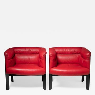 Marco Zanuso Pair of Interlude Chairs by Marco Zanuso for Poltrona Frau