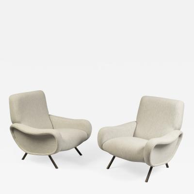 Marco Zanuso Pair of Lady Armchairs by Marco Zanuso for Arlfex Italy circa 1950