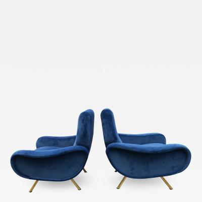 Marco Zanuso Pair of Lady Armchairs for Arflex Italy 1950s