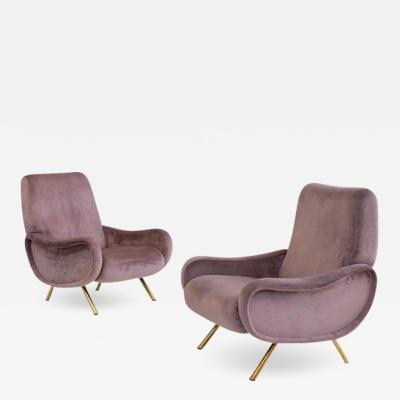 Marco Zanuso Pair of Lady armchairs by Marco Zanuso for Arflex