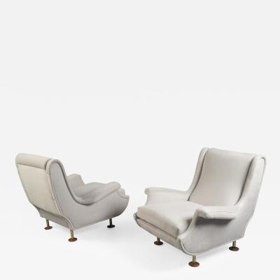 Marco Zanuso Pair of Lounge Chairs by Marco Zanuso Italy 1950s