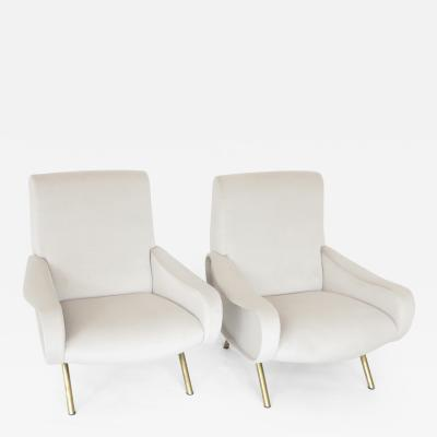 Marco Zanuso Pair of Marco Zanuso Italian Lady Chairs for Arflex