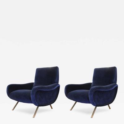 Marco Zanuso Pair of Marco Zanuso Lady Chairs for Arflex Italy 1950s