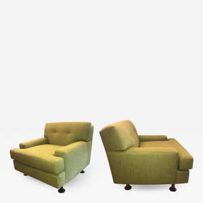 Marco Zanuso Pair of Marco Zanuso Square Series Lounge Chairs